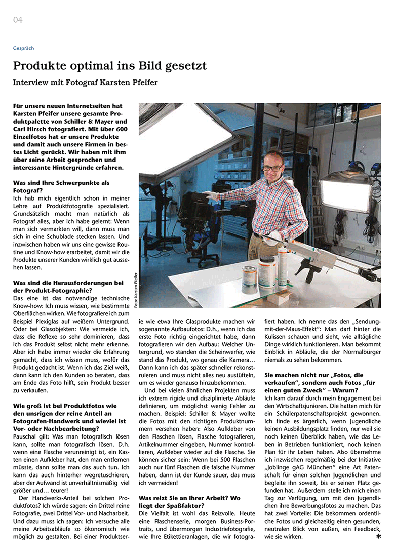 Interview in der Flaschenpost